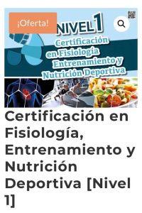 Curso de fisiología, entrenamiento y nutrición